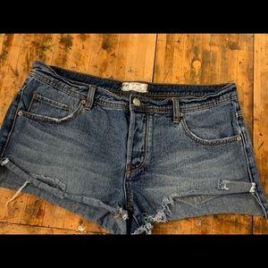 Free People Sharkbite Denim Shorts 31